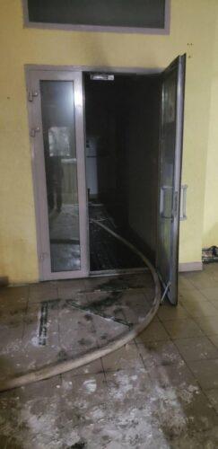 пожежа, поліція, банк, Львів, підпал