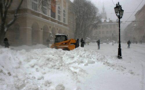 Львів снігопад